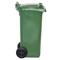 Bac plastique 120L vert/vert