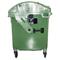 Bac plastique 1100L Couvercle basculant vert/vert