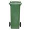 Bac plastique 140L vert/vert